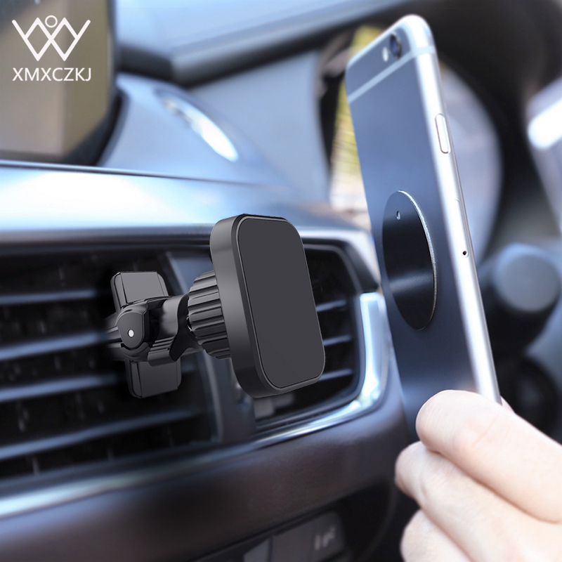 XMXCZKJ Universal Twist-Lock Air Vent Magnetic Car Mount Holder For Iphone X Xs Magnet Phone Car Mount For Xiaomi Holder In Car