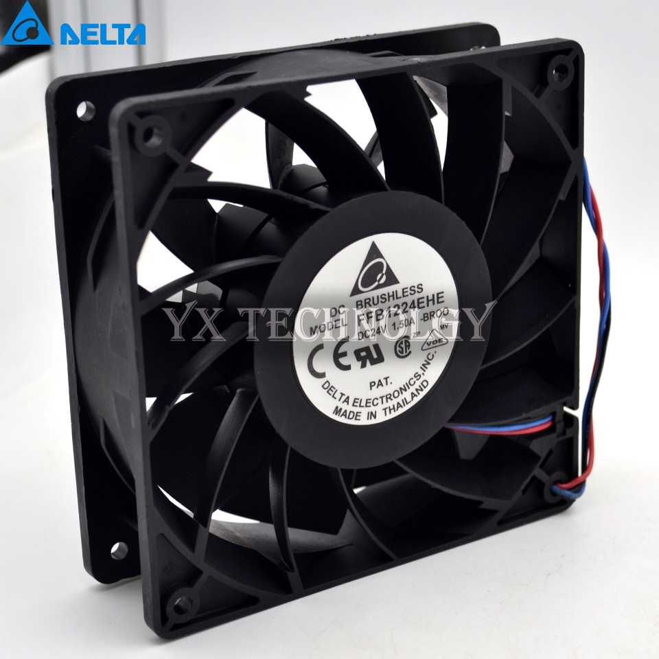 New 12038 12CM 24V 1.50a PWM fan speed control FFB1224EHE winds of violence 120*120*38mm delta afb1212hhe 12038 12cm 120 120 38mm 4 line pwm intelligent temperature control 12v 0 7a