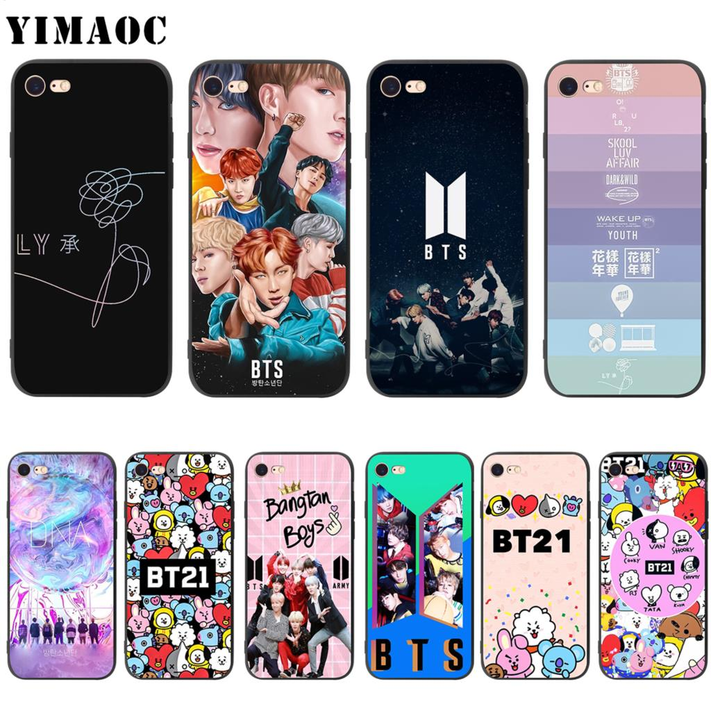 Phone Bags & Cases Learned Korea Bangtan Boys Phone Case For Iphone 7 7plus Cases Bts Signature Back Cover For Iphone 6 6splus 7 8 Plus Covers Coque Fundas