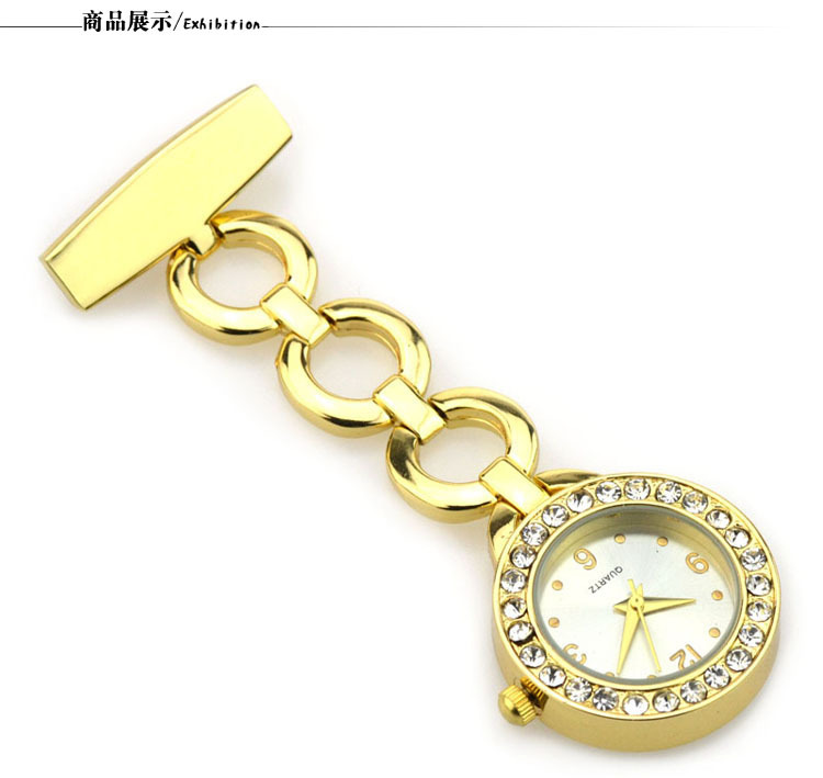 Fashion Luxury Crystal Clip-on Fob Quartz Brooch Hanging Nurse Pin Watch Men Women Unisex Full Steel Pocket Watch new luxury round dial clip on fob nurse pocket watch quartz brooch hanging fashion men women luminous pin watch steel relogio