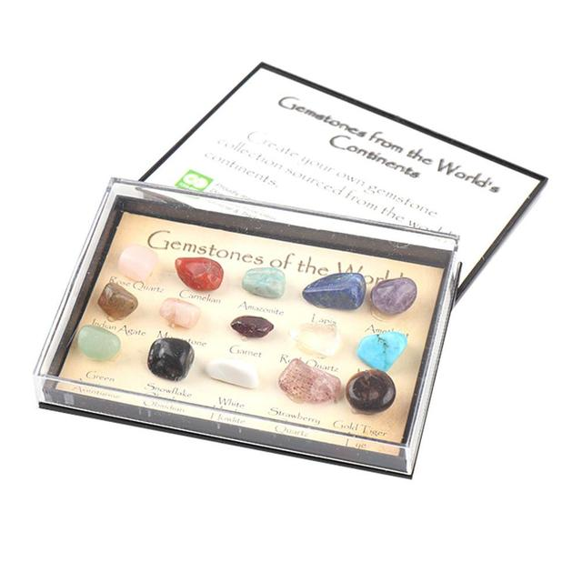 Crystal Gemstone Polished Healing Natural Crystal Gemstone Color Stone Gift Stone Natural Stone Set Collection And Decoration