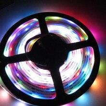 5 м Программируемый-Водонепроницаемый WS2801 180LED SMD5050 мечта полный Цвет RGB Светодиодная лента 12 В 36LED/ м домашний бар клуб Грузовик Декор