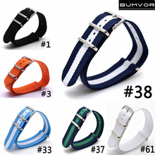 Man Women 24mm Strong Military Army Light Blue White nato fabric Nylon Watch watchband accessories Woven Strap Band Buckle 24mm все цены