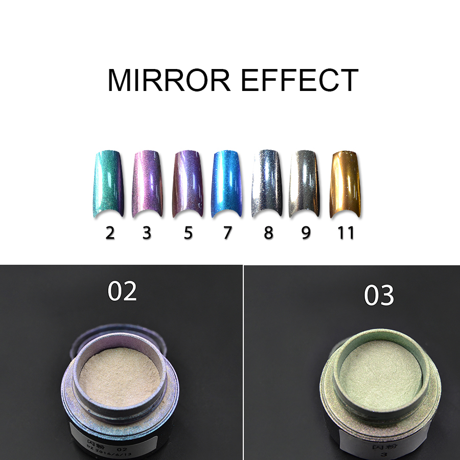 High Quality Pigment Powder Shinning Magic Ultrafine Mirror font b Nail b font Glitter Sequins font