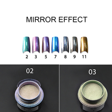 High Quality Pigment Powder Shinning Magic Ultrafine Mirror Nail Glitter Sequins Nail Art New Arrival 2g/ Bottle 7 Colors Powder
