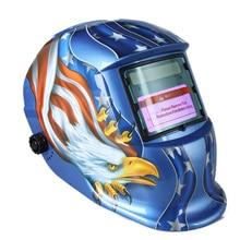 Сварочная маска TIG MIG с автозатемнением, шлем с автоматическим затемнением, на солнечной батарее, для плазменного резака сварочного аппарат...