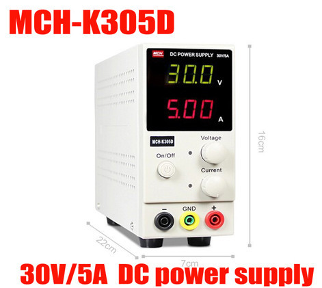 цена на New Design MCH-K305D Mini Switching Regulated Adjustable DC Power Supply SMPS Single Channel 30V 5A Variable MCH K305D