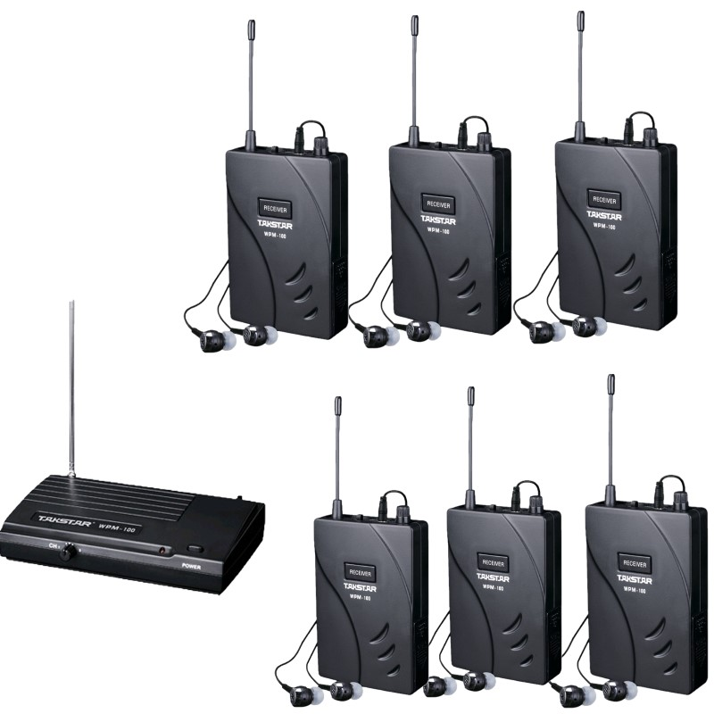 Upgraded Takstar wpm 100 wpm100 UHF Stage Wireless Monitor System In Ear earphone Wireless Stereo 1