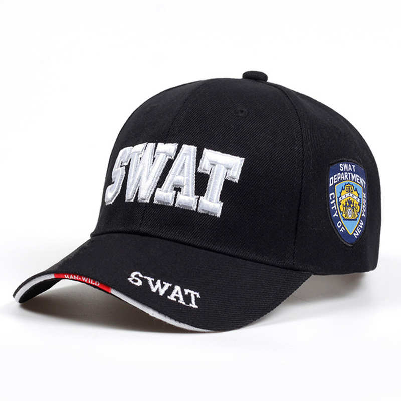 New Unisex SWAT Baseball Cap with 3D Embroidery Military Combat Hat 100/% Cotton