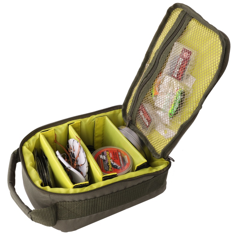 2018 Fishing Reel Bag 4-Layer 600D Oxford Cloth Handled Dual Zipper Outdoor Storage Case Container For Line Bait Fishhooks