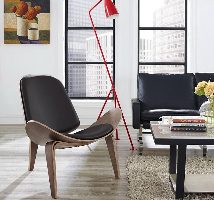 Minimalist Modern design wood lounge chair Living Room Modern ...