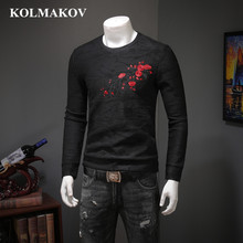 KOLMAKOV New Men' Clothing Men's Black Printed Sweatershirt Fleece Liner Pullovers Mens Spring Hoody M-4XL Men Shirts Hoodies