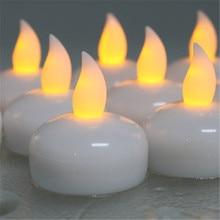 24pcs Water Activated Waterproof Led Candle For Wedding Color velas flutuantes bougie flottante White Flameless velas flotantes