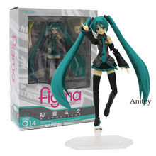Hatsune Miku figma 014 PVC Action Figure Doll Model Toy Collectibles Joints Movable Interchangeable 13cm