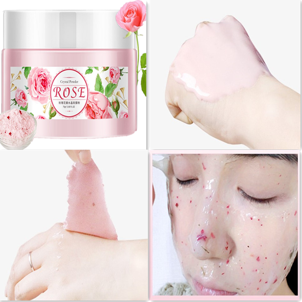 IMAGES pétales de Rose hydratant doux masque visage soins du corps plante extrait propre rétrécissement Pores éclaircir et hydratant doux masque pour le visage