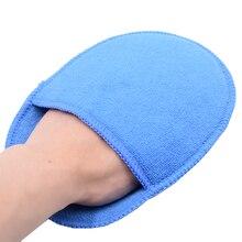 Almohadillas aplicadoras de cera de microfibra para coche, guantes de bolsillo de esponja de alta densidad para pulir y quitar la cera, limpieza y detalles, tamaño grande, 5 uds.