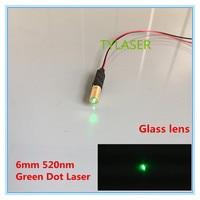 Small Size 6x19mm 520nm 1mW 5mW 10mW Green Dot Laser Module Industrial Grade APC Driver