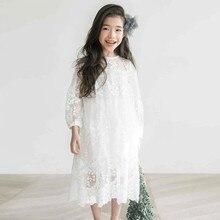 14 เด็กหญิงลูกไม้ชุดเจ้าหญิงงานแต่งงานคริสต์มาสเย็บปักถักร้อยสีขาวชุดเด็กขนาด 10 12