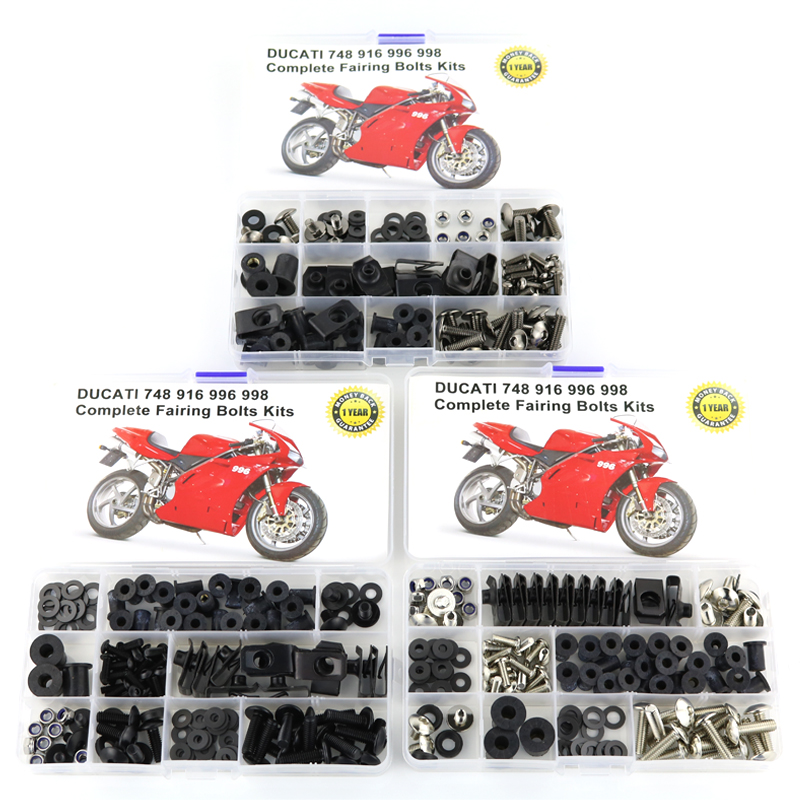 For Ducati 748 916 996 998 Motorcycle Accessories Full Fairing Bolts Kit Washer Fastener Clips Nuts Screws Steel