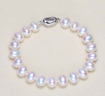 Natural Freshwater Pearl Bracelet White Purple Pink Hand Jewelry wholesale