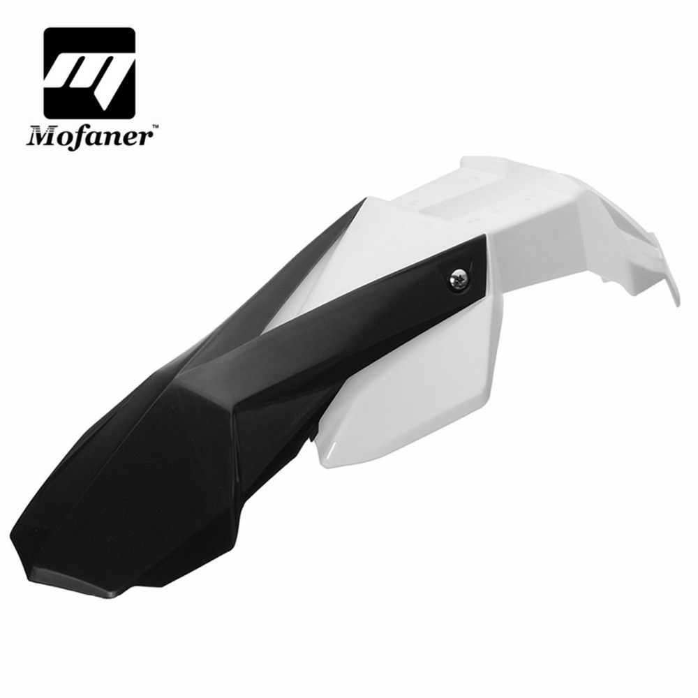 Universal Hand Guard Front For Fender Mudguard For Motorcycle Supermoto Dirt Bike For Honda For KTM universal diy plastic motorcycle mudguard black