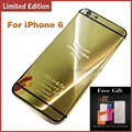 24KT GOLD Housing For iPhone 6 6Plus Limited Edition Mirror Middle Frame Back Cover Housing Replacement for iPhone 6 Plus