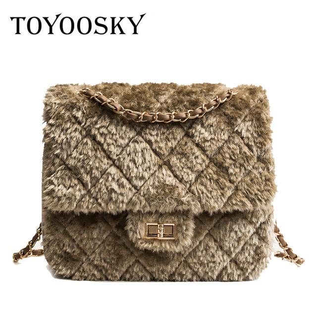 956f454f6a2 TOYOOSKY Women Bag Designer Faux Rabbit Fur Brand Female Mini Handbags  Messenger Bag Winter Ladies Crossbody Tote Bags Hangbag