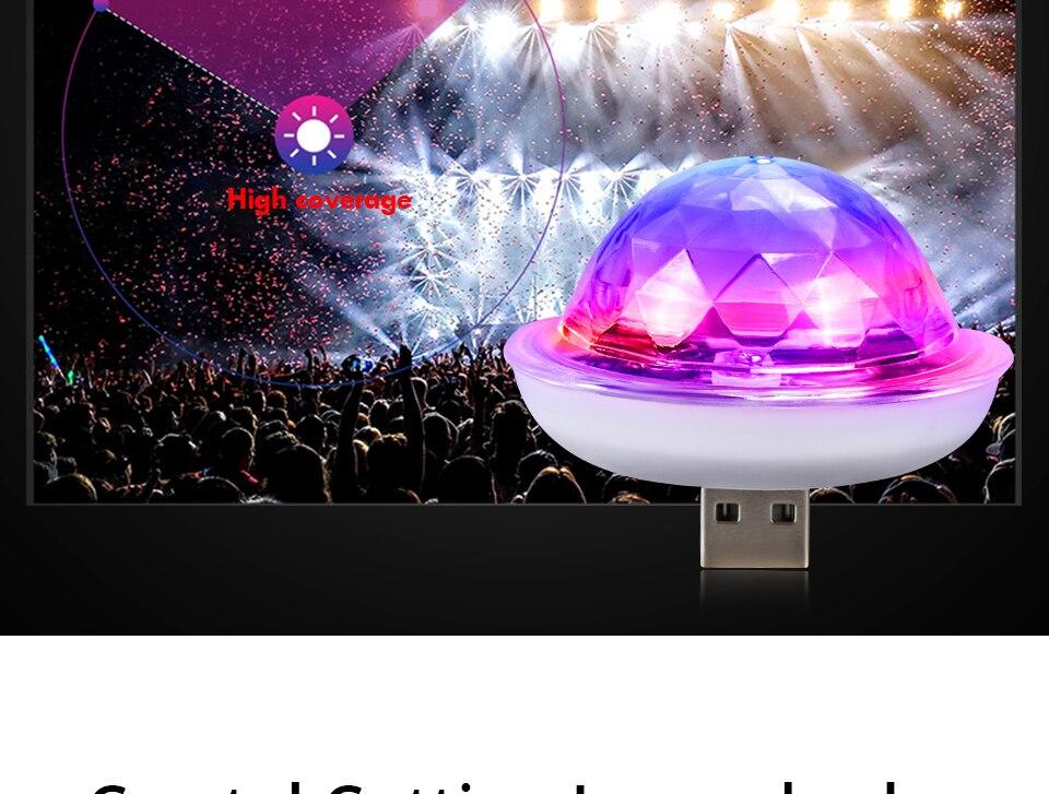 Mini USB led Party Lights Portable Crystal Magic Ball (8)