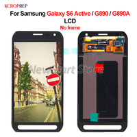 For Samsung Galaxy S6 Active G890 G890A LCD Display Touch Screen Digitizer Assembly Replacement 5.1 For Samsung S6Active lcd