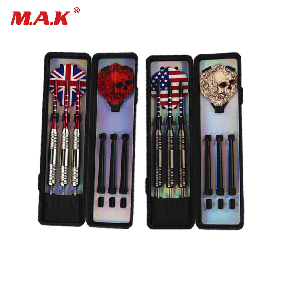 2 Set(6 Pcs) Professional White/Bronze Darts 25g Steel Tip Darts With Iron Copper Barrel For Indoor Game Sports