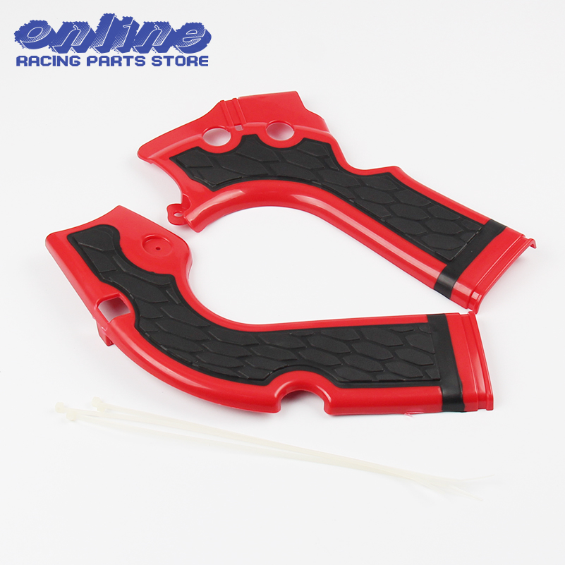 Pair Stylish Red Motorcycles Frame Guard for Honda CRF 250R 450R 2014 -2016 Motocross Frame Protector