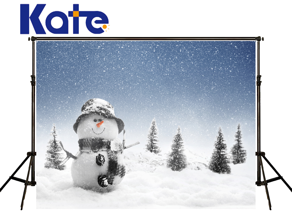 Kate Christmas Photography Backdrop Snowflake Fall Winter  Photography Backgrounds Snowman  Backgrounds For Photo Studio snowman village snow moon snowflake photo backdrop high grade vinyl cloth computer printed christmas photography backgrounds