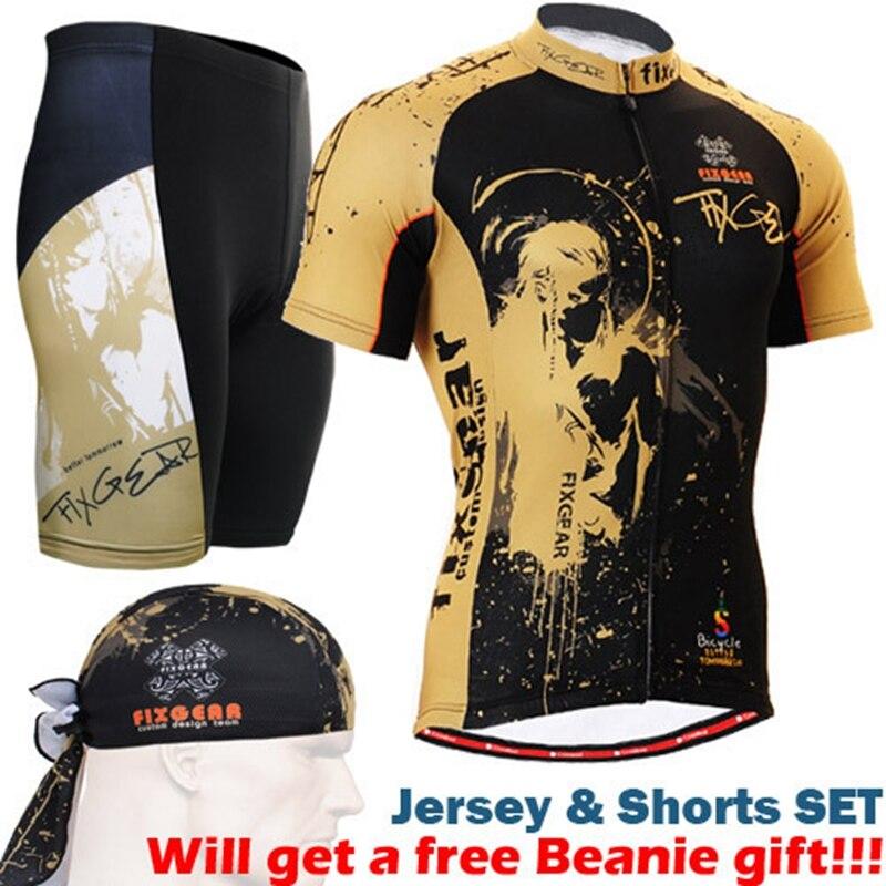 2017 мужчины Велоспорт комплект мужская Велоспорт одежда наборы с коротким рукавом молнии вверх майки рубашки и мягкий велосипед шорты
