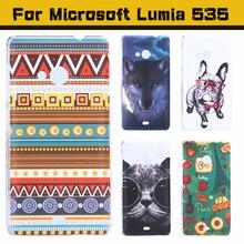 Caso para microsoft lumia 535 caso moda bonito encantador dos desenhos animados uv impressão hard cover case for microsoft nokia lumia 535 casos