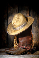BAR CLUB TOP ART Painting American West Art Cowboy Hat Boot Print Oil Painting On Canvas
