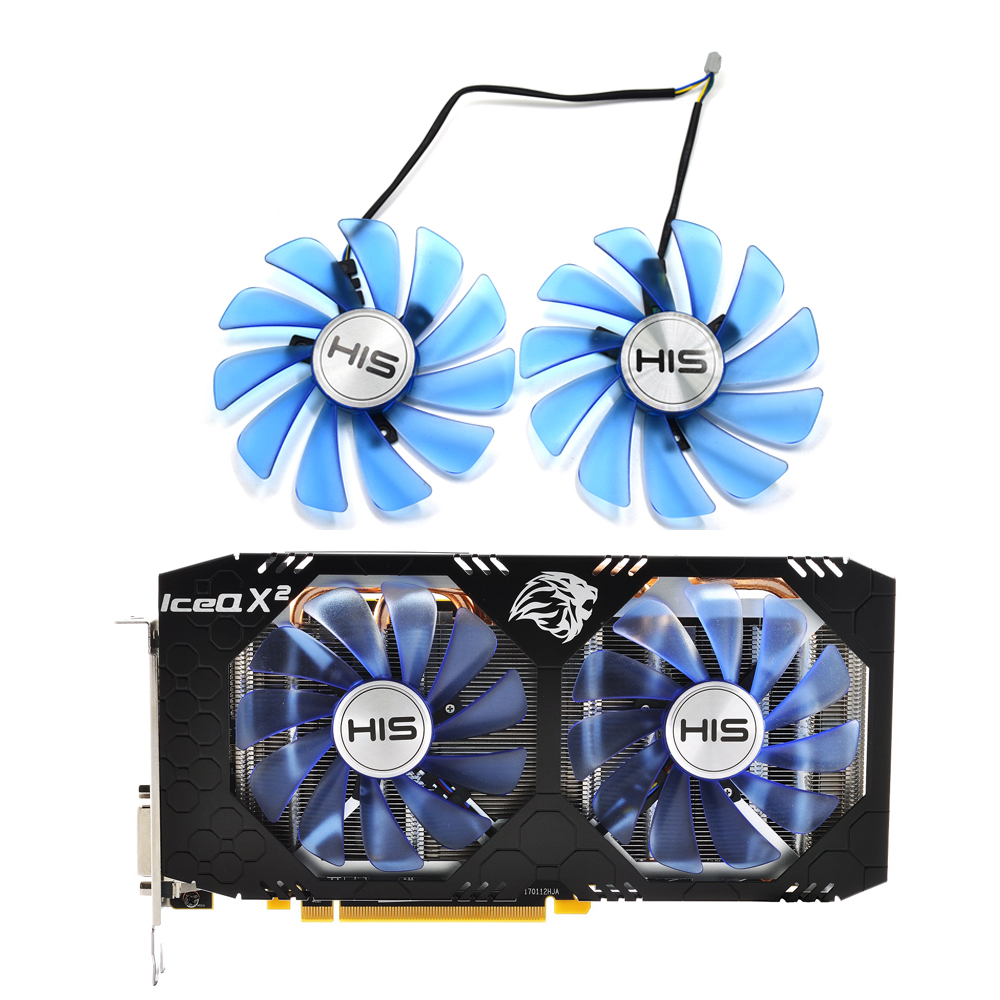 95MM 85MM FDC10U12S9-C 0.35A 4Pin Cooler Fan Replacement For RX 470 570 RX470 RX570 RX580 Graphics Card Cooling Fans95MM 85MM FDC10U12S9-C 0.35A 4Pin Cooler Fan Replacement For RX 470 570 RX470 RX570 RX580 Graphics Card Cooling Fans