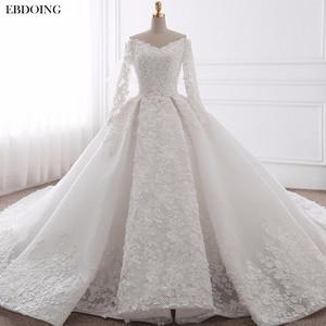 Image 1 - EBDOING Wedding Dress Ball Gown Sweetheart Neckline Chapel Train Custom Made Plus Size Bridal Gown Vestidos De Novia