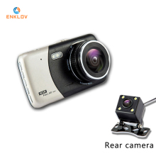 ENKLOV 4.0 Inch IPS Screen Car DVR Camera Full HD 1080P Video 170 Degree T810 Dash Cam Dual Recording Fill Ligh