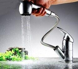 Preminum Chrom Messing Einzigen Handgriff Herausziehen Sprayer Küche Waschbecken Wasserhahn, Ziehen Nach Unten Ziehen Pull-Out Küche Wasserhahn