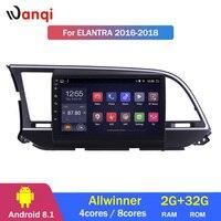 2G ram 32G rom 9 дюймов Android 8,1 автомобильный мультимедийный плеер gps навигация для hyundai Elantra 2016 2018