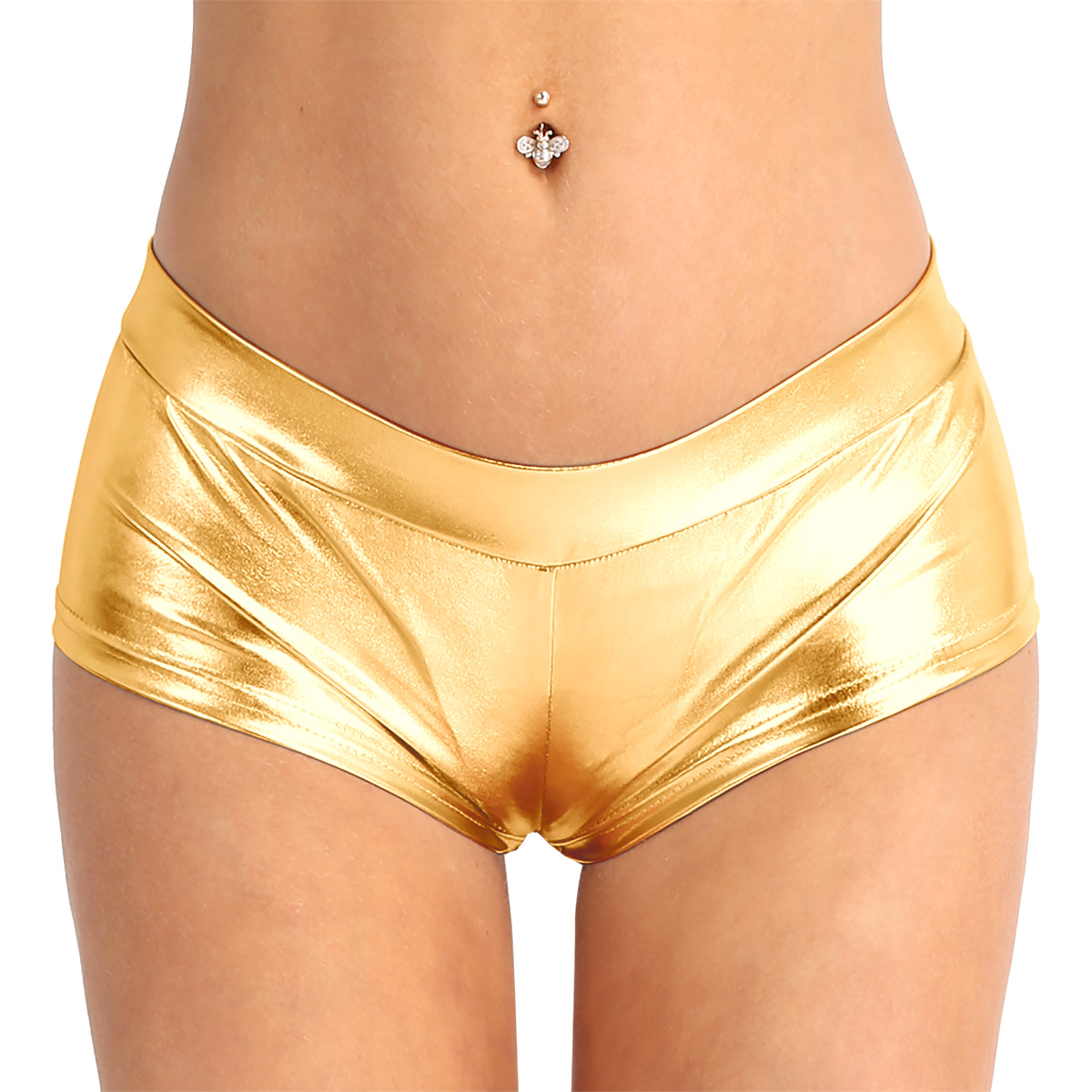 Women's Pole Dance Shorts Rave Clothes Shiny Faux Leather Low Waist Hot <font><b>Sexy</b></font> Shorts Pants for Dancing Raves <font><b>Festivals</b></font> Costumes image