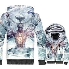 Snap-on Zen Body Balance Hard Jacket Men 3D Print Harajuku Hoodie The Facets Of Man Sweatshirt Winter Thick Fleece Zipper Coat