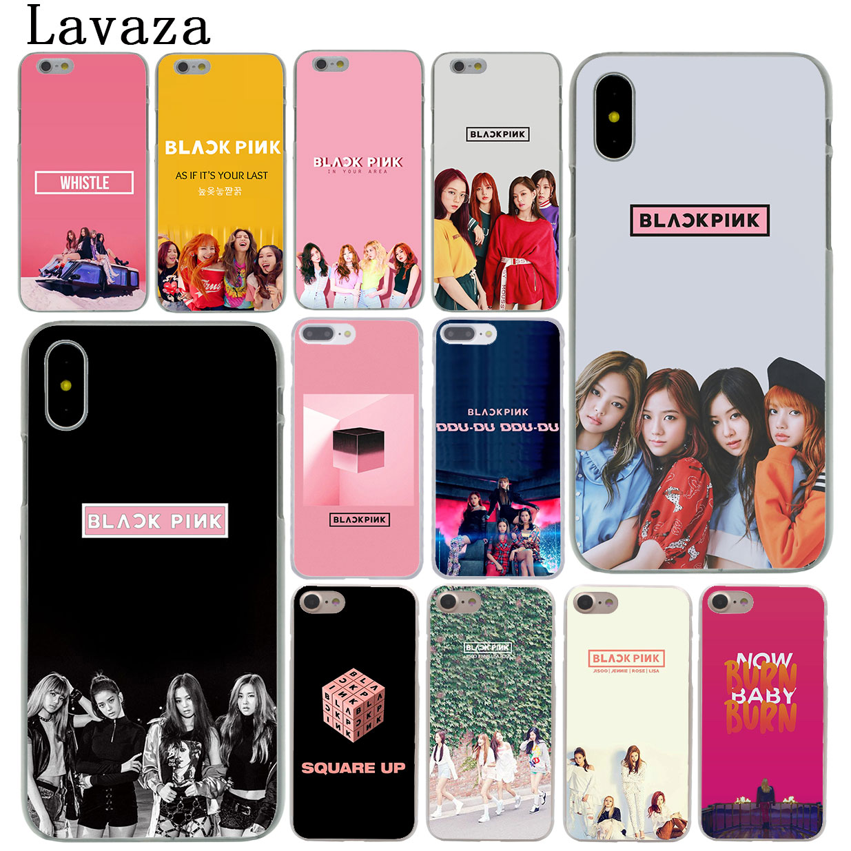 cbad5b2fe4 Lavaza Blackpink Black Pink Lisa Rose Hard Cover Case for Apple iPhone X XS  Max XR 6 6S 7 8 Plus 5 5S SE 5C 4S 10 Phone Cases