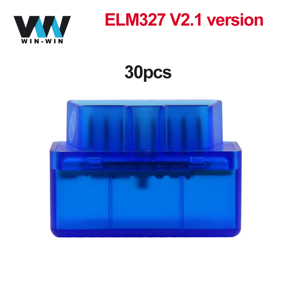 30pcs ELM 327 V2.1 OBD2 Bluetooth Scanner OBD 2 OBD2 Car Diagnostic Auto Tool ELM327 V2.1 For Android odb2 Bluetooth Code Reader-in Code Readers & Scan Tools from Automobiles & Motorcycles on