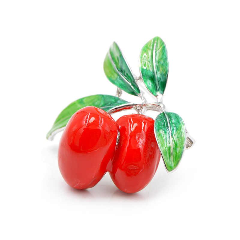 CINDY XIANG 2 Colori Disponibili Olive Spille per Le Donne Smalto Carino Pianta Spilla Spille Vestito Accessori di Alta Qualità di Alta Qualità