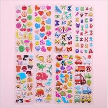 5PCS Kawaii stationery stickers children DIY cartoon anime  3D puzzle early educationbubble animal YOUE SHONE