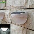 Sensor de Iluminación impermeable Al Aire Libre Con Energía Solar 6 LED Lámparas de Decoración de Luces de Techo Valla Gutter Garden Wall