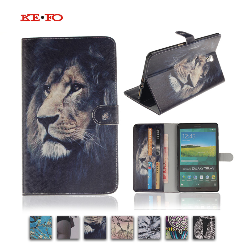 Fashion owl tiger pattern PU Leather Stand Book case for Samsung Galaxy Tab S 8.4 T700 T705 Tablet Cover for Samsung T700 luxury folding flip smart pu leather case book cover for samsung galaxy tab s 8 4 t700 t705 sleep wake function screen film pen