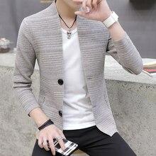 Вязаный мужской кардиган с v-образным вырезом, верхняя одежда, весенний и осенний светильник, модный красивый свитер для отдыха