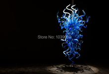 Free Shipping Factory Price Hand Blown Glass Blue Chandelier Crystals